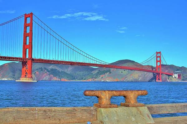 Fantasy Wall Art - Photograph - Golden Gate Bridge by Tony Castle
