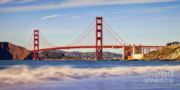 Wall Art - Photograph - Golden Gate Evening by Colin and Linda McKie