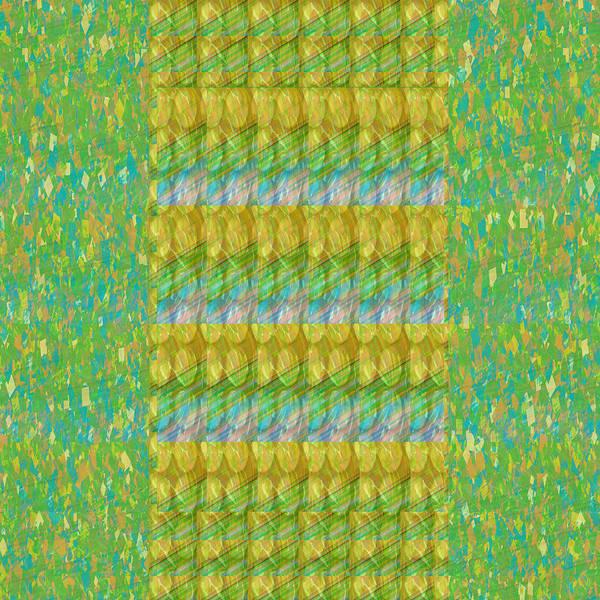 Promotion Mixed Media - Golden Green Beads Crystals Pattern Chakra Mandala Style  Signature Art  Navinjoshi Artist Created I by Navin Joshi