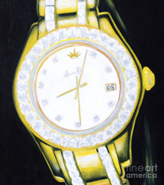 Painting - Golden Time.  Inspirations Collection. by Oksana Semenchenko
