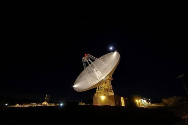Goldstone Observatory At Night Art Print by Nasa/jpl-caltech