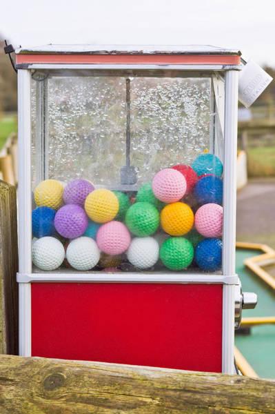 Dispenser Photograph - Golf Balls by Tom Gowanlock