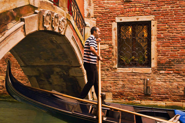 Photograph - Gondolier by Mick Burkey