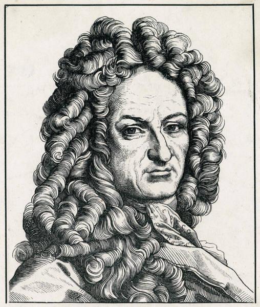 Wall Art - Drawing - Gottfried Wilhelm Von Leibniz by Mary Evans Picture Library