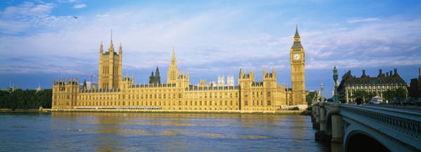 Houses Of Parliament Wall Art - Photograph - Government Building At The Waterfront by Panoramic Images