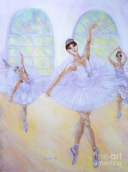 Painting - Grace Of Dance. Inspirations Collection. by Oksana Semenchenko