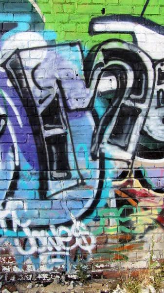 Photograph - Graffiti Close Up 1 by Anita Burgermeister