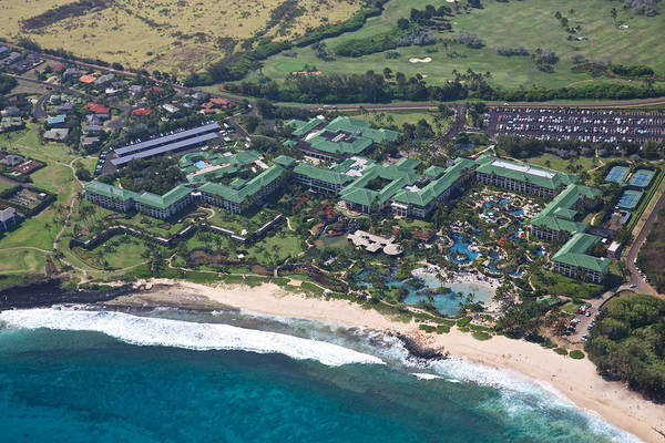Photograph - Poipu Beach Aerial by Steven Lapkin