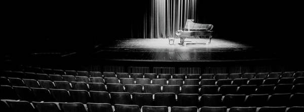 Grand Piano Photograph - Grand Piano On A Concert Hall Stage by Panoramic Images