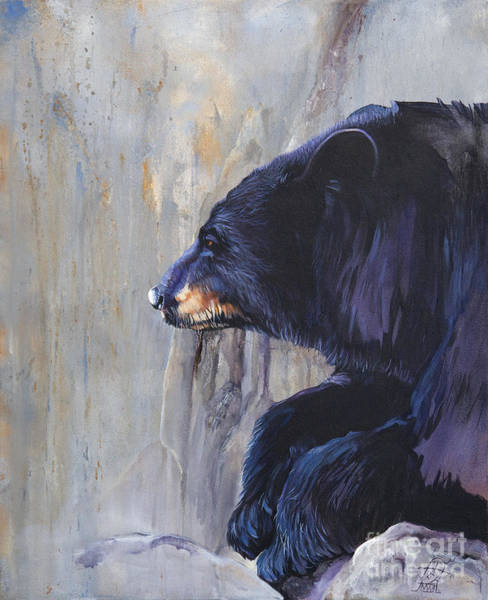 Hibernation Wall Art - Painting - Grandfather Bear by J W Baker