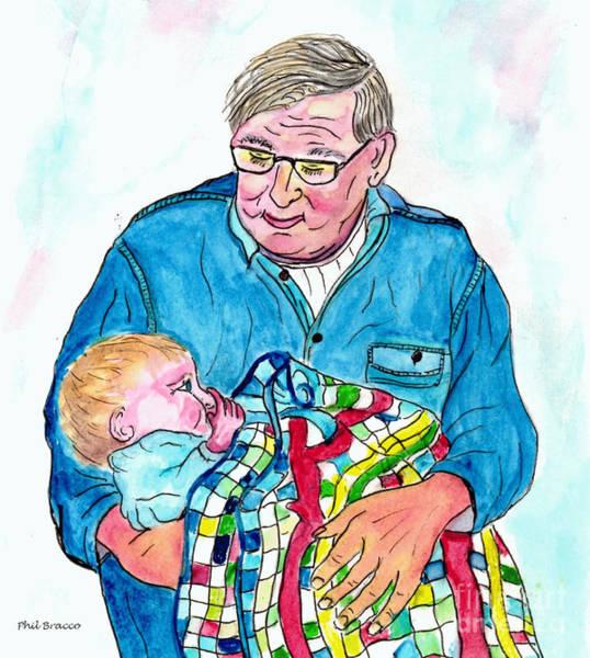 Grandpas Bundle Of Joy Art Print