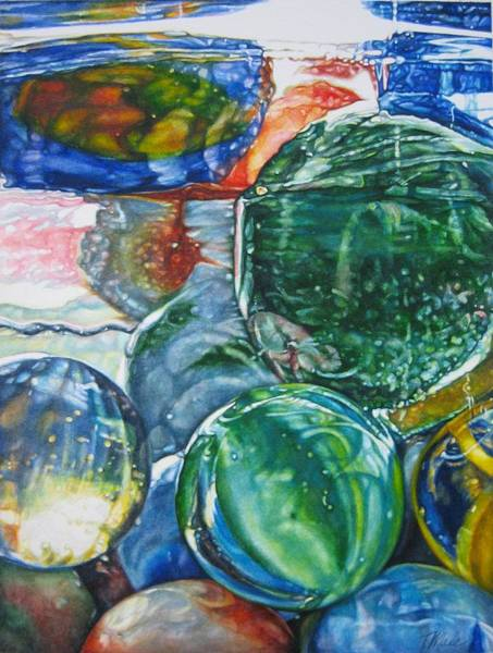 Painting - Grandpa's Marble Jar by Tracy Male