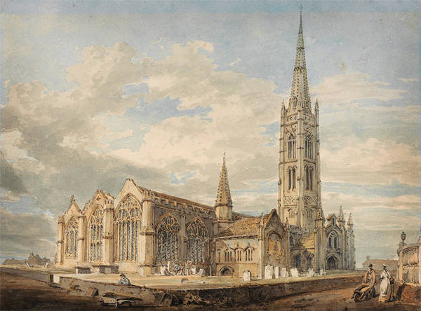 Painting - Grantham Church by Celestial Images