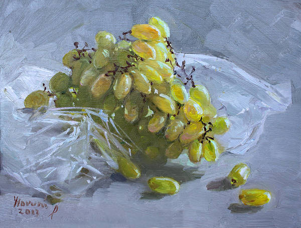 Wall Art - Painting - Grapes by Ylli Haruni