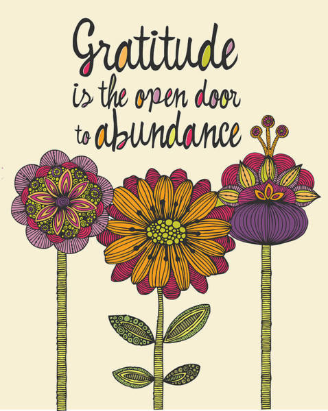 Quotation Photograph - Gratitude Is The Open Door To Abundance by Valentina Ramos
