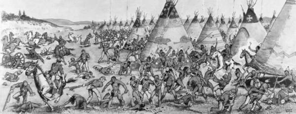 1854 Drawing - Grattan Massacre, 1854 by Granger