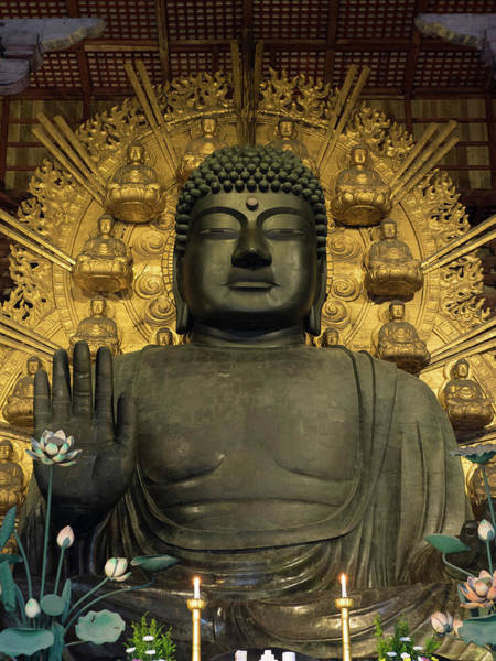 Giant Buddha Photograph - Great Buddha Statue In Todaiji Temple by Panoramic Images