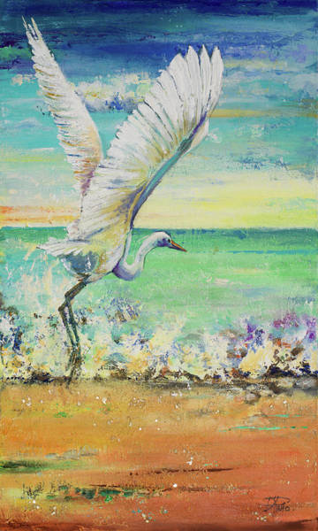 Wall Art - Painting - Great Egret I by Patricia Pinto