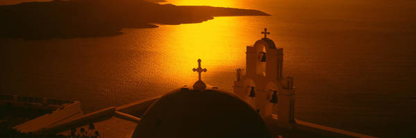 Bell Rock Photograph - Greece, Santorini, Fira, Church by Panoramic Images