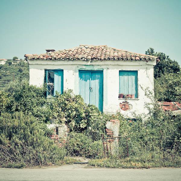 Door Wall Art - Photograph - Greek House by Tom Gowanlock