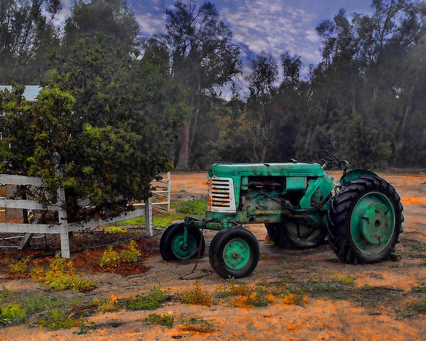 Photograph - Green Oliver Tractor by William Havle