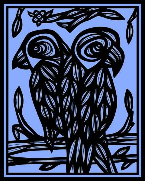 Blue Parrot Drawing - Green Windows by Eddie Alfaro