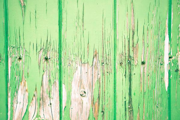 Texture Wall Art - Photograph - Green Wood by Tom Gowanlock