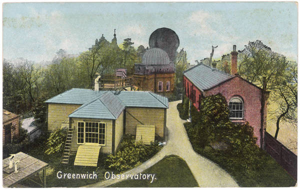 Wall Art - Photograph - Greenwich Royal Observatory  Postcard by Mary Evans Picture Library