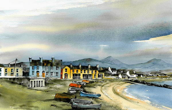 Mixed Media - Greystones Beach Wicklow by Val Byrne