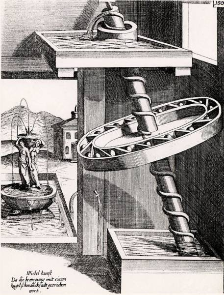 Perpetual Photograph - Grindstone Driven By A Water Wheel by Universal History Archive/uig