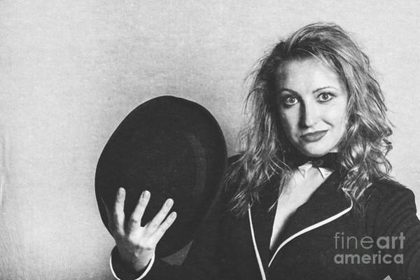 Entertainer Photograph - Grunge Photo Of Female Cabaret Performer by Jorgo Photography - Wall Art Gallery