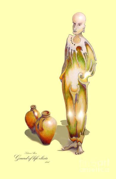Drawing - Guard Of Life Elixir by Alexa Szlavics