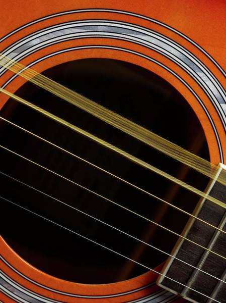 Strum Wall Art - Photograph - Guitar Strings Vibrating by Science Photo Library