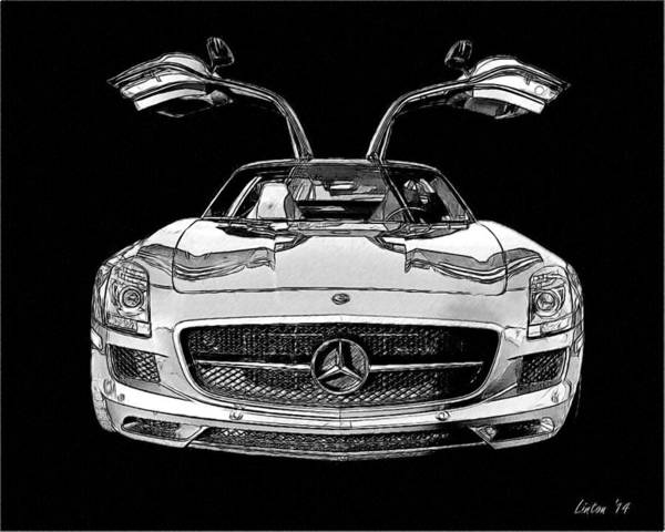 Digital Art - Gullwing by Larry Linton