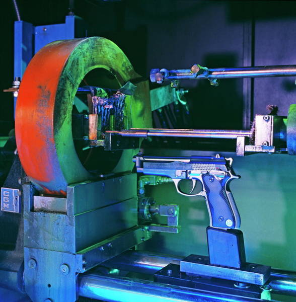Beretta Wall Art - Photograph - Gun Manufacture by Philippe Psaila/science Photo Library