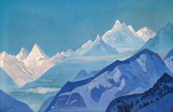 Guru Painting - Guru-guri Dhar by Nicholas Roerich