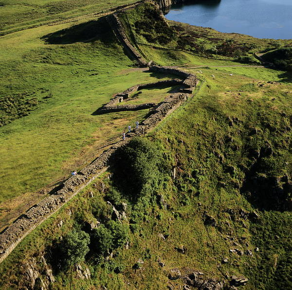 Roman Fort Photograph - Hadrian's Wall And Cawfields Milecastle by Skyscan/science Photo Library