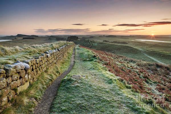 Roman Wall Photograph - Hadrian's Wall by Rod McLean