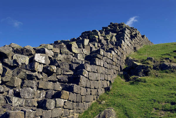 Roman Wall Photograph - Hadrian's Wall by Simon Fraser/science Photo Library