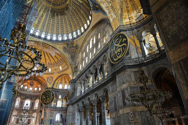 Sancta Sophia Photograph - Hagia Sophia In Istanbul Turkey by Brandon Bourdages