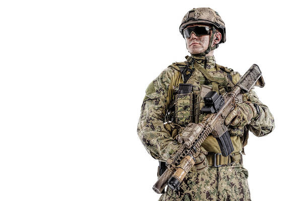 Wall Art - Photograph - Half Length Portrait Of Special Forces by Oleg Zabielin