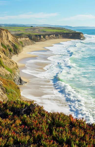 Half Moon Bay Photograph - Half Moon Bay, California, Cliffs by Bill Bachmann