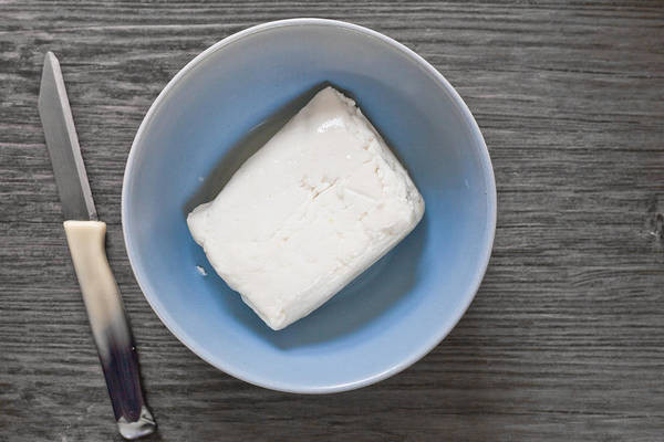 Blades Photograph - Halloumi Cheese by Tom Gowanlock