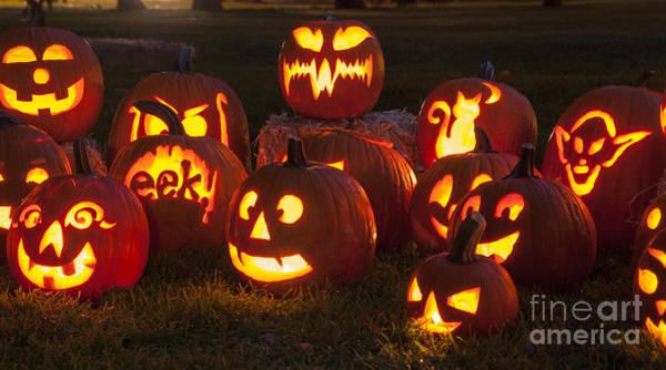 Wall Art - Photograph - Halloween Pumpkins by Juli Scalzi