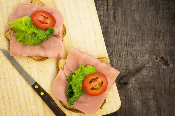 Appetite Photograph - Ham Sandwiches by Aged Pixel