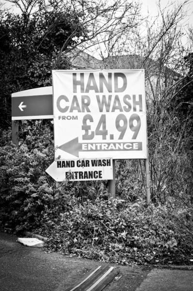 Car Wash Photograph - Hand Car Wash by Tom Gowanlock
