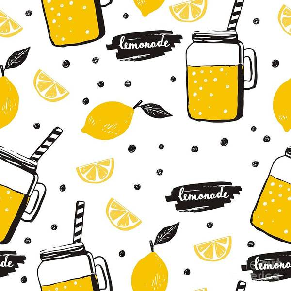 Wall Art - Digital Art - Hand Drawn Lemonade by Nadezda Barkova