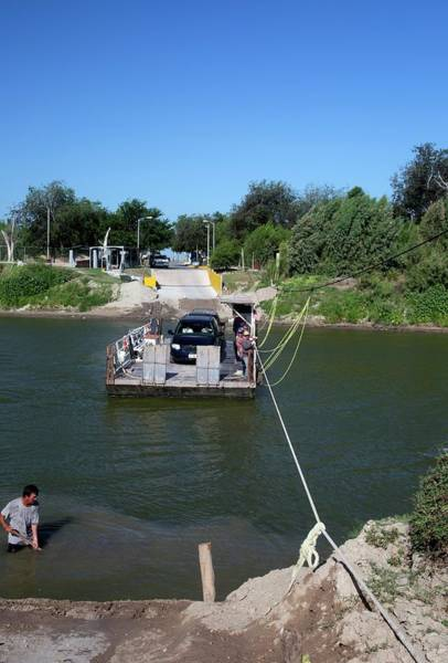 Rio Grande River Photograph - Hand-powered Ferry by Jim West