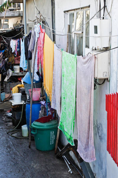 Dirty Laundry Photograph - Hanging Towels by Tom Gowanlock
