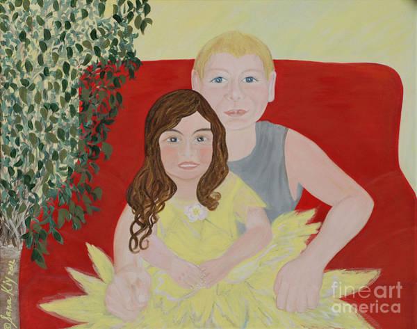 Painting - Happy Children. Inspirations Collection. by Oksana Semenchenko